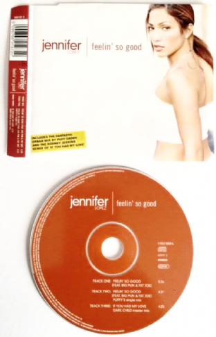 Jennifer Lopez ‎- Feelin' So Good (CD Single Pt 1) (VG+/EX)